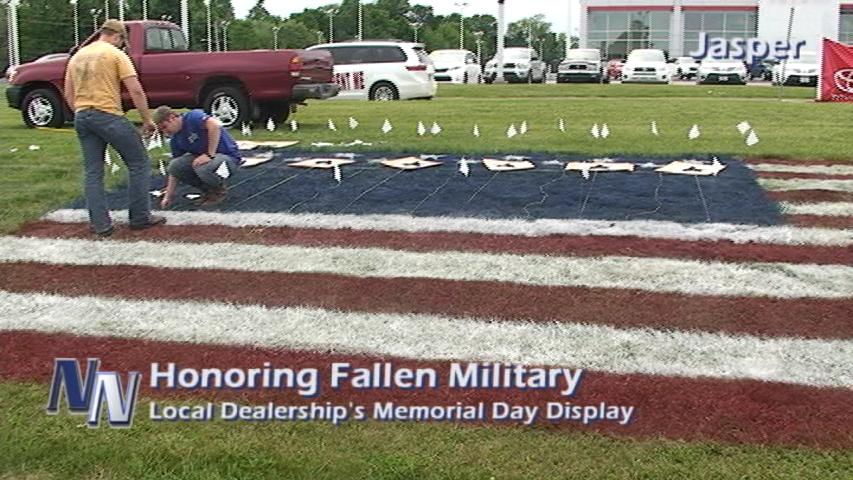 Local Dealership's Display Honors Fallen Military; All Service Branches (VIDEO/PHOTO GALLERY)