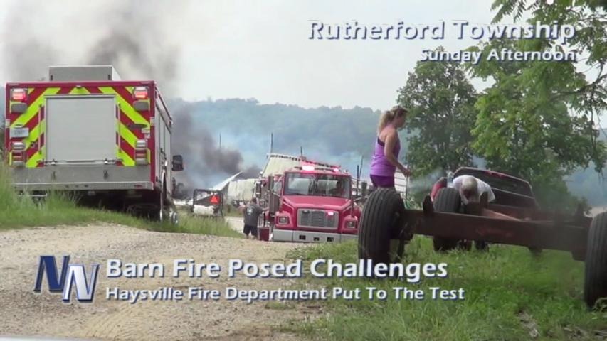Expanded Coverage; Barn Fire Posed Challenges for HVFD (VIDEO)