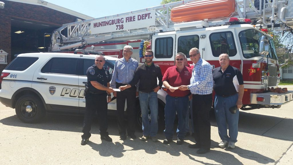 Menke Charitable Foundation Donates $5000 Each To Huntingburg Police & Fire Departments