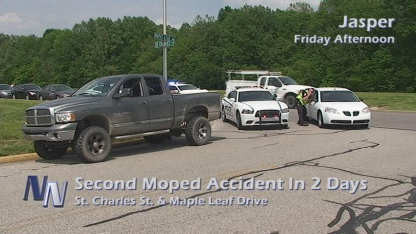 Second Accident Involving A Moped In Jasper (VIDEO)