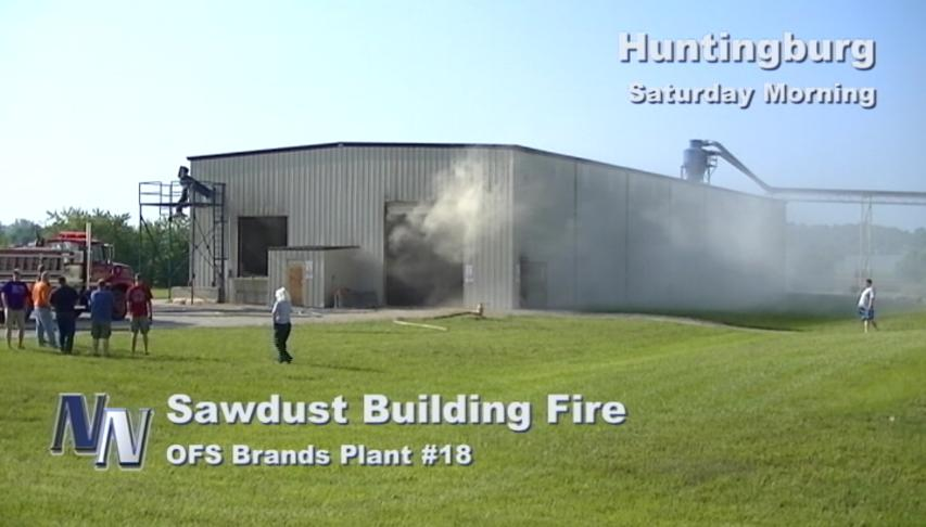 Sawdust Fire Breaks Out At OFS Plant In Huntingburg (VIDEO)
