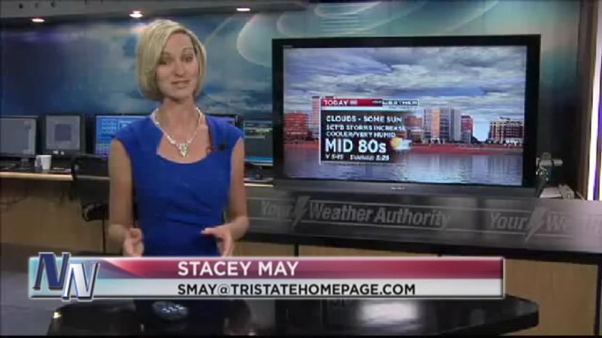 Thundershowers Possible Later On Friday Says Stacey May (VIDEO)