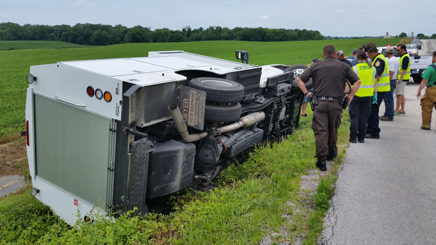 Driver Escapes Injury In Truck Mishap