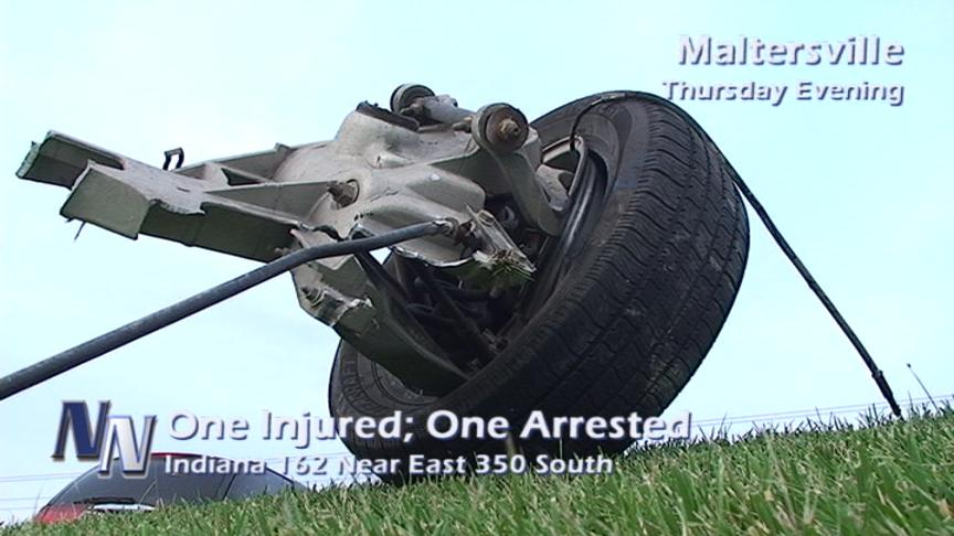 One Injured; One Arrested In Two-Vehicle Accident At Maltersville (VIDEO)