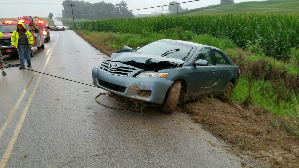 Driver Escapes Serious Injury In Accident Near St. Henry (PHOTOS/POLICE BLOTTER)