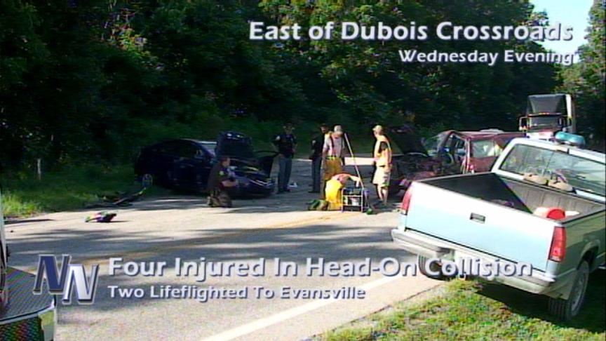 Four Injured In Dubois Crossroads Accident (VIDEO)