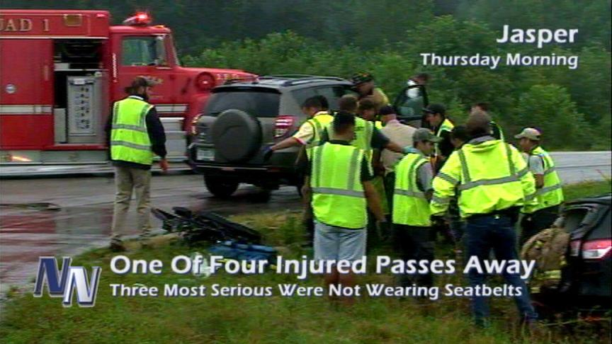 UPDATE: One Of Four Injured In Jasper Accident Passes Away (VIDEO)