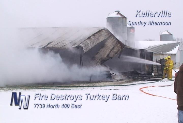 Sunday Afternoon Fire Destroys Barn (VIDEO)