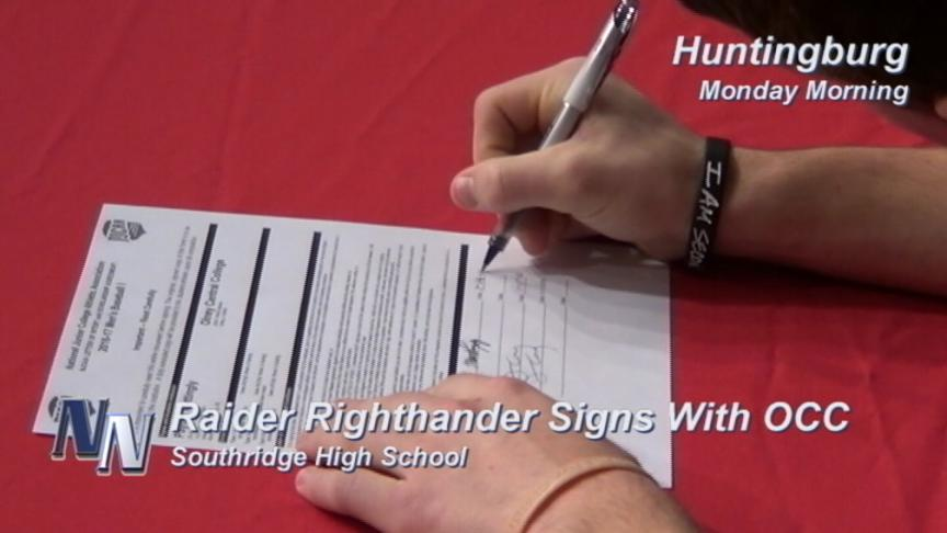 Raider Signs With Olney Central College (VIDEO)