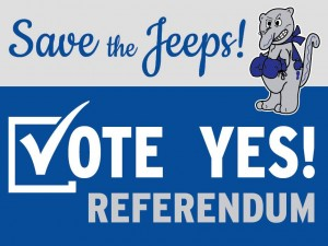 """The public group """"Save The Jeeps"""" has a Facebook page that encouraged the school board to approve the referendum resolution."""