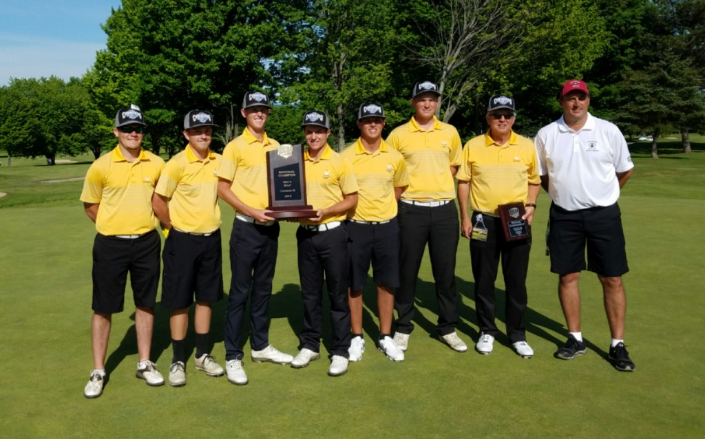 Vincennes University Mens Golf Team 2016 NJCAA DIII National Champions