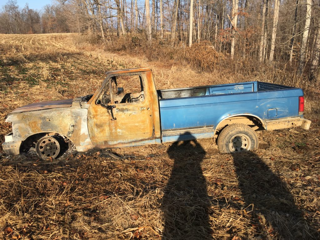 Public's Help Sought After Truck Found Burned!
