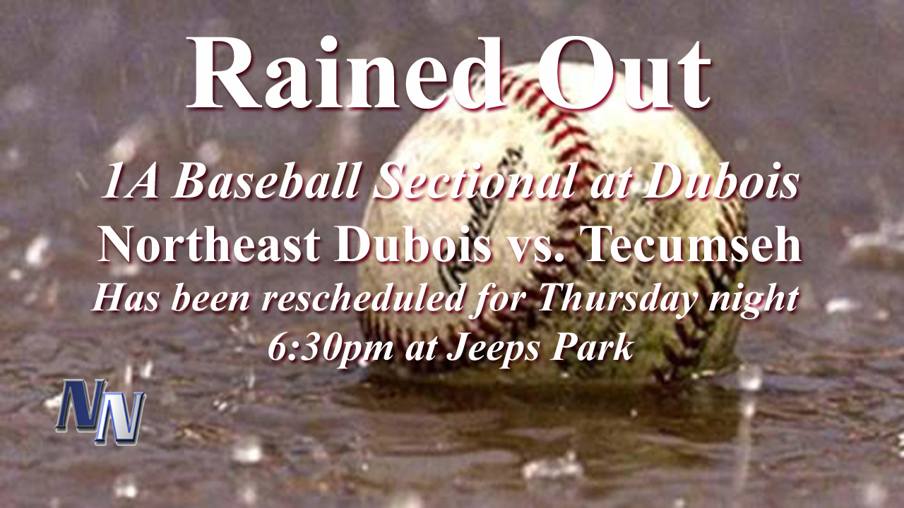1a baseball sectional rained out tonight