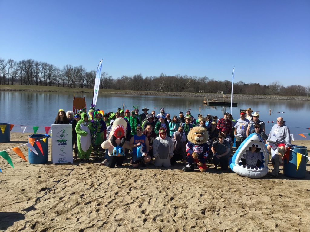Temperatures Below Freezing did Not Dampen Spirits for the Polar Plunge to Benefit Special Olympics (Click icon for pics. and videos)