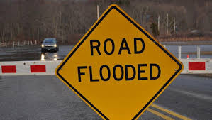Flooded County Roads