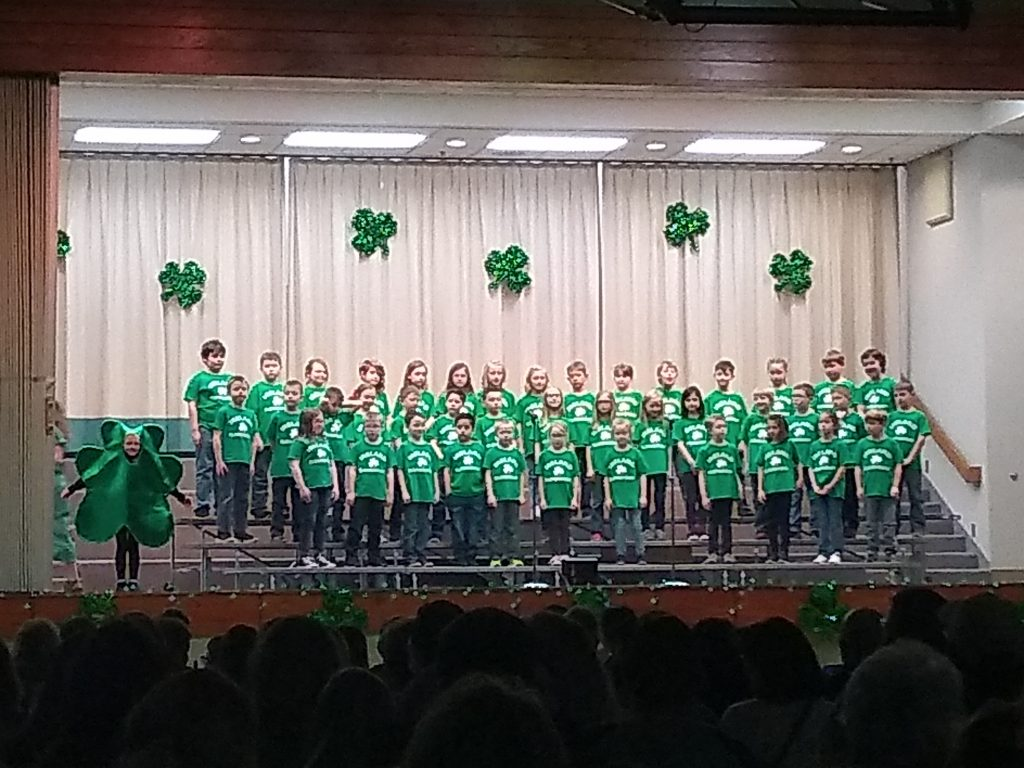 Ireland Elementary First, Second, and Fifth Grades are 100% Irish