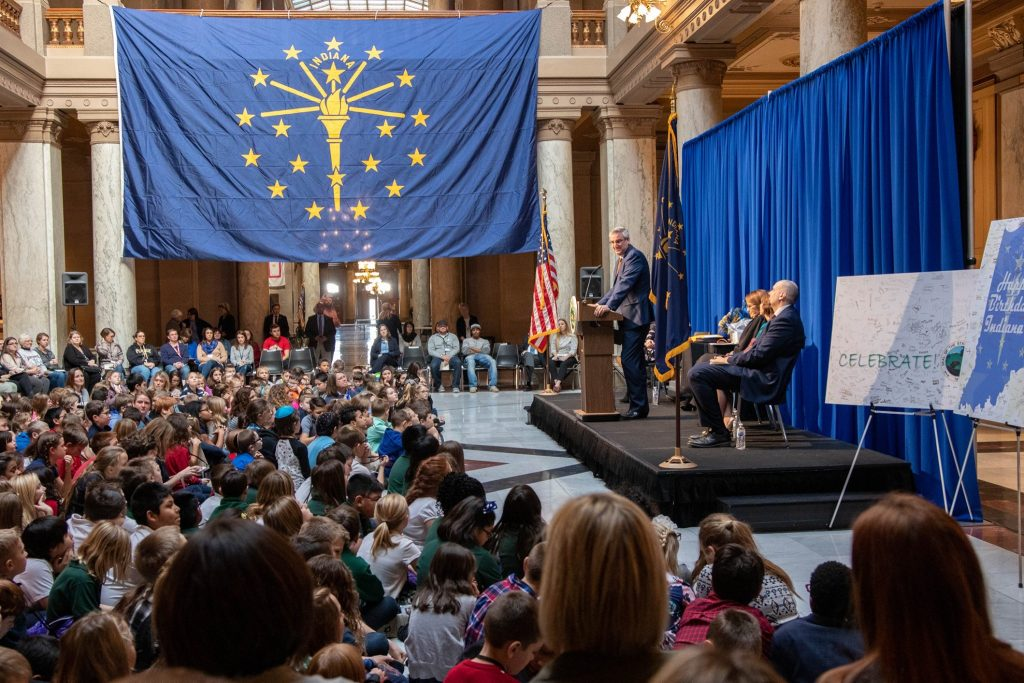 Gov. Eric J. Holcomb  weekly news conference  from the Governor's Office