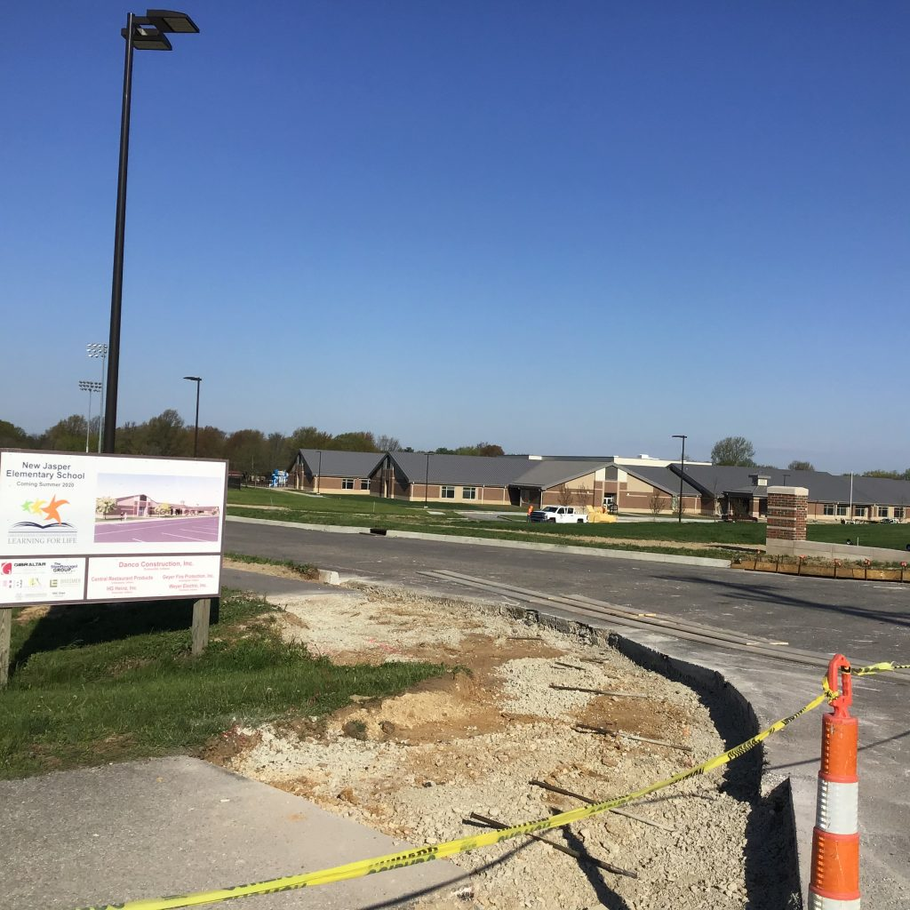 New Jasper Elementary School on Track for Completion (click icon for video and pics)