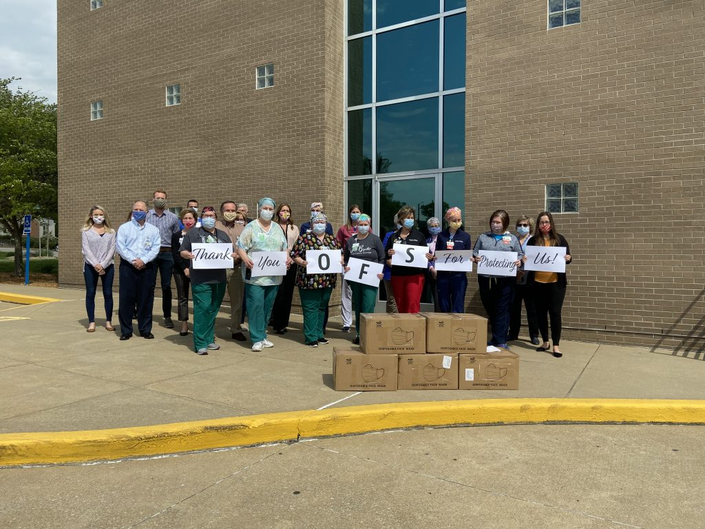 OFS Donates Masks to Memorial Hospital
